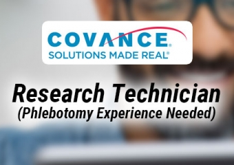 Covance Research Tech (phlebotomy experience required)